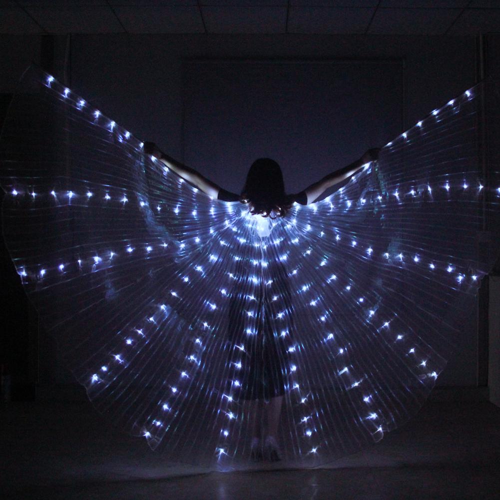 LED Isis כנפי בטן ריקוד תלבושות פסטיבל LED להאיר להראות מלאך כנפי אבזר ללבוש