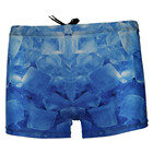 Men Light Blue Ocean Stylish All Over Print Beachshort Bottom Swimwear