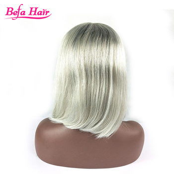 10 inch human hair wholesale short blunt cut bob lace front wig with bangs short bob lace cut wig