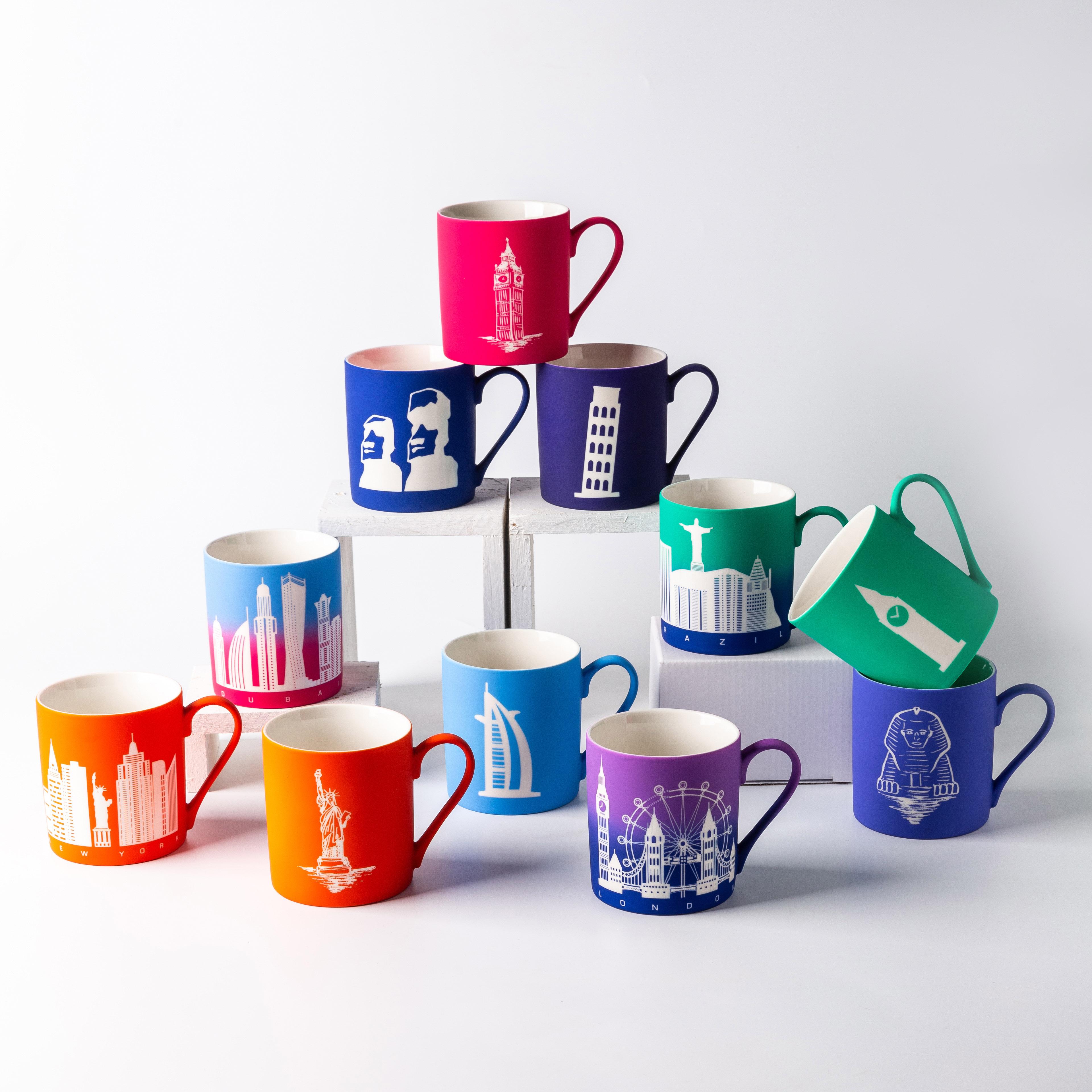 Wholesale Custom Logo ceramic mug 11oz matte color design travel porcelain mug tea ceramic cup ceramic mug