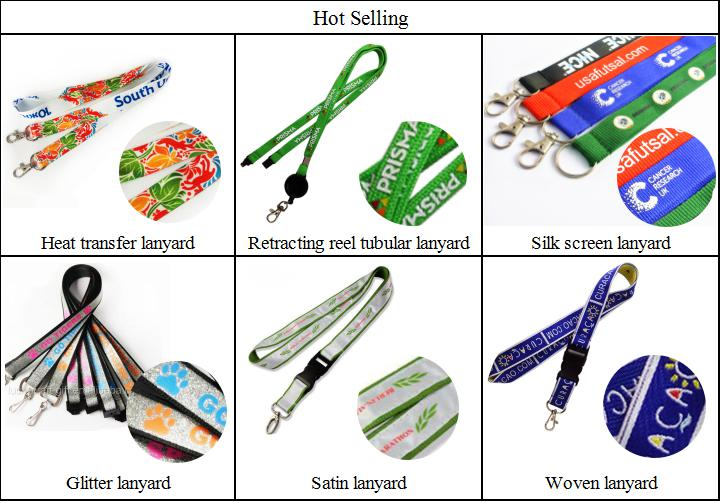 custom double embroidered woven business lanyards with plastic buckle