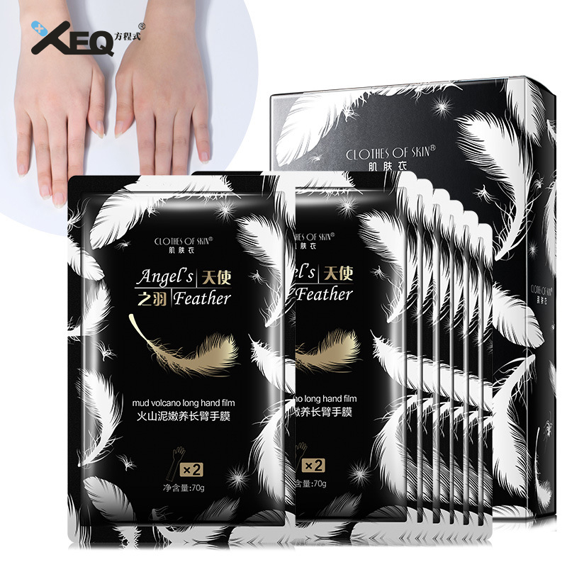Volcanic Mud Natural Rose Essential Oil Peeling Hand Mask Anti Aging Whitening Moisturizing Hand Gloves