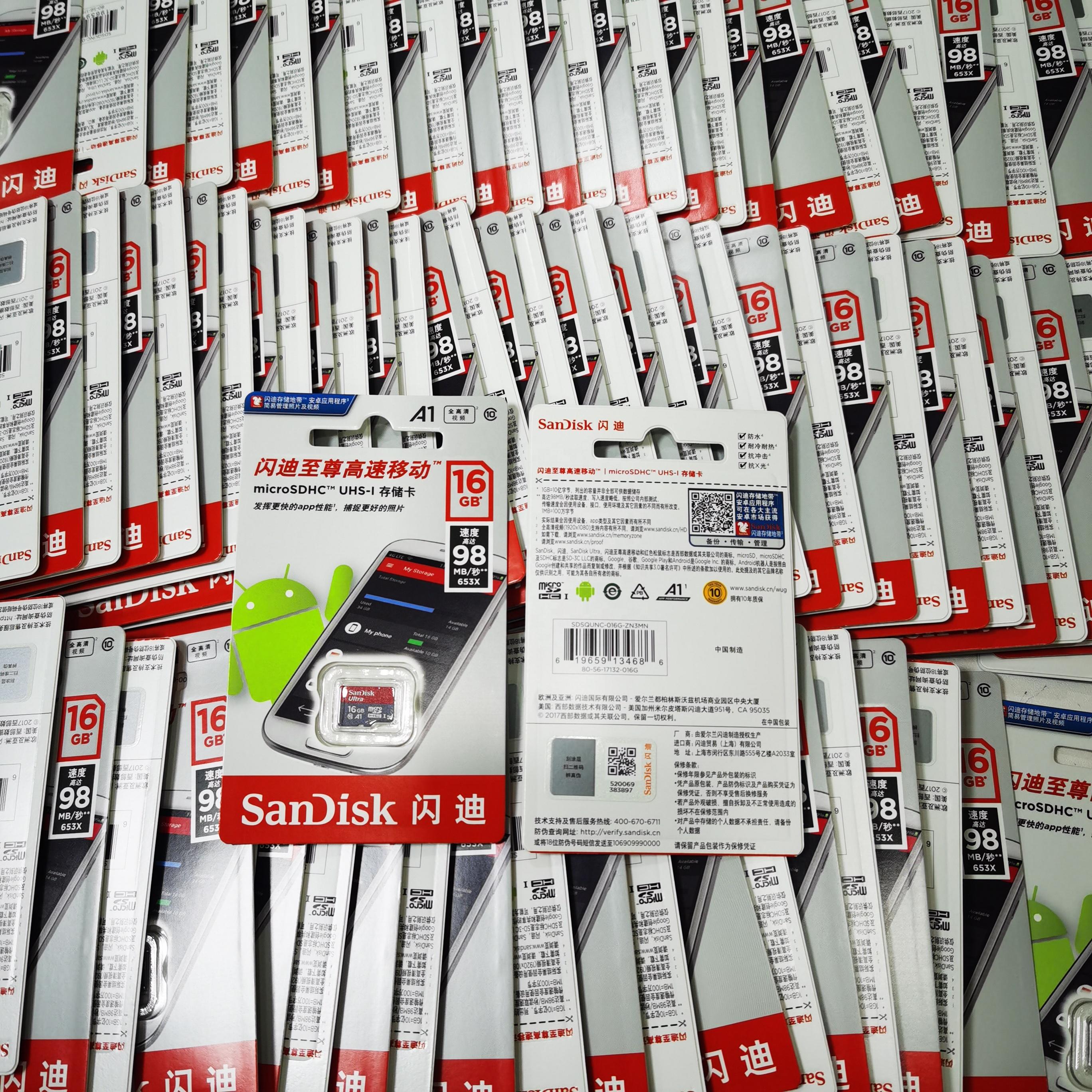 100% Original Sandisk Micro SD Card 128GB 32GB 256GB 16G 400GB Micro SD/TF Card Ultra Class 10 A1 Memory Card 64gb for Phone