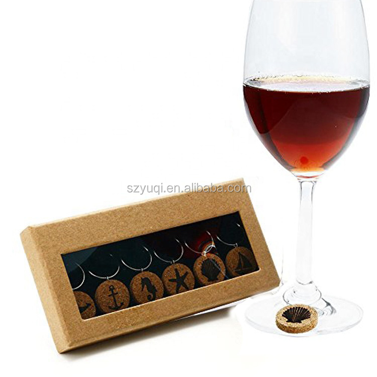 Wine Accessories Nautical Beach Wine Glass Rings Charm Cocktail Drinks Glass Charms