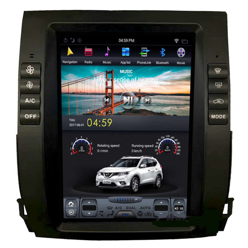 10.4 ''android 8.1 auto dvd-speler voor Prado 120 land cruiser 2002-2009 LEXUS LX470 tesla screen stijl PX6 CARPLAY RADIO GPS