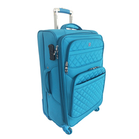 2020 Hot New Style Waterproof Nylon Suitcase Four Wheel Trolly Travel Roller Luggage Bag