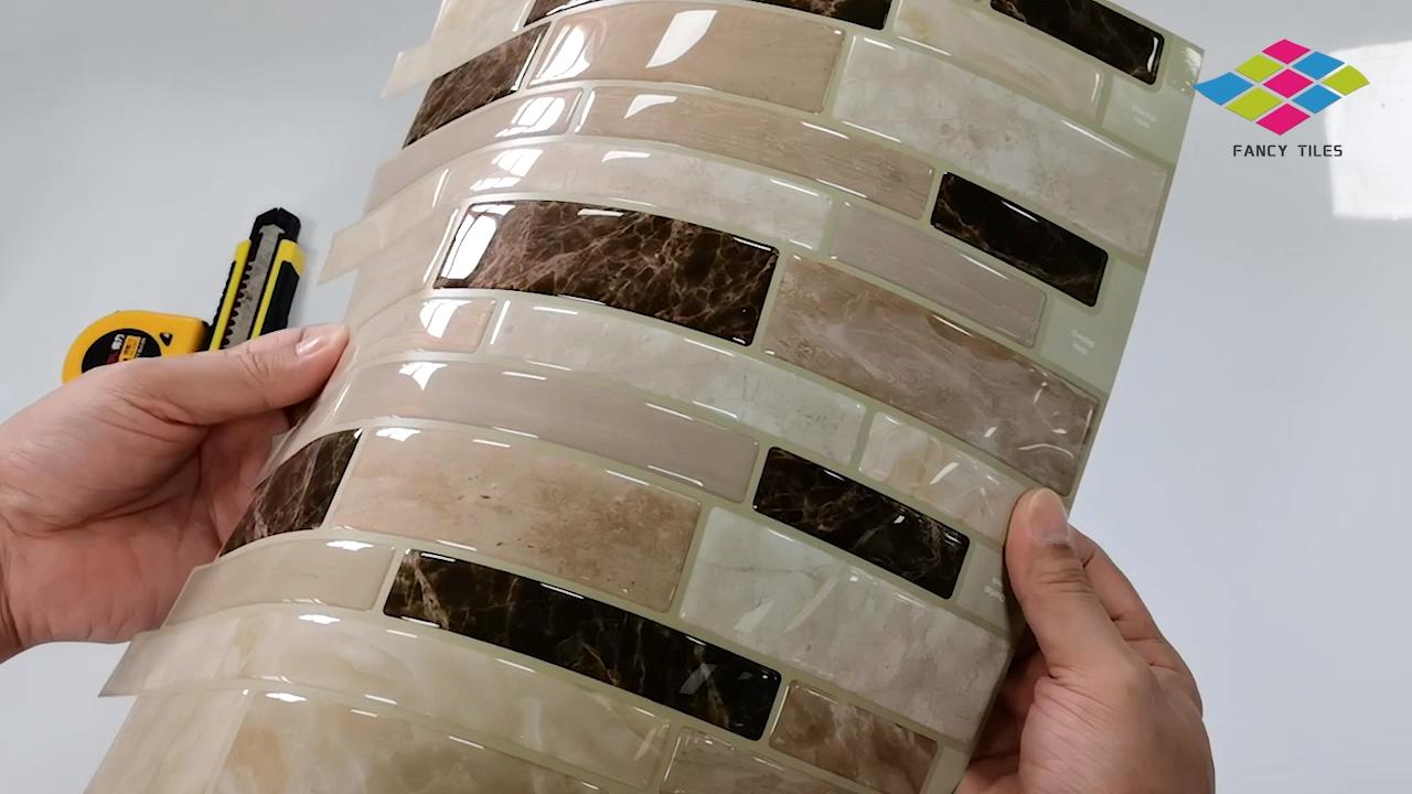 גבוהה-איכות 3d פסיפס Creative מטבח בעיצוב בית אמבטיה אריחי מדבקת קיר