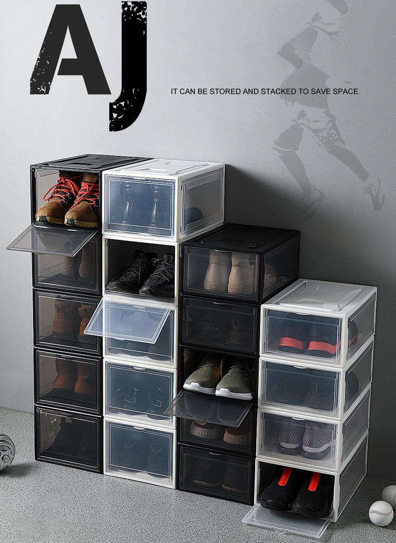 مصنع مخصص واضح صندوق من البلاستيك للأحذية تكويم