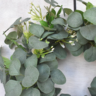 Door Wreath Green Spring Wreath Door Ring Grapevine Branches Eucalyptus Leaf Wreath Imitation Garland Especially Garlands Door Wreath Party