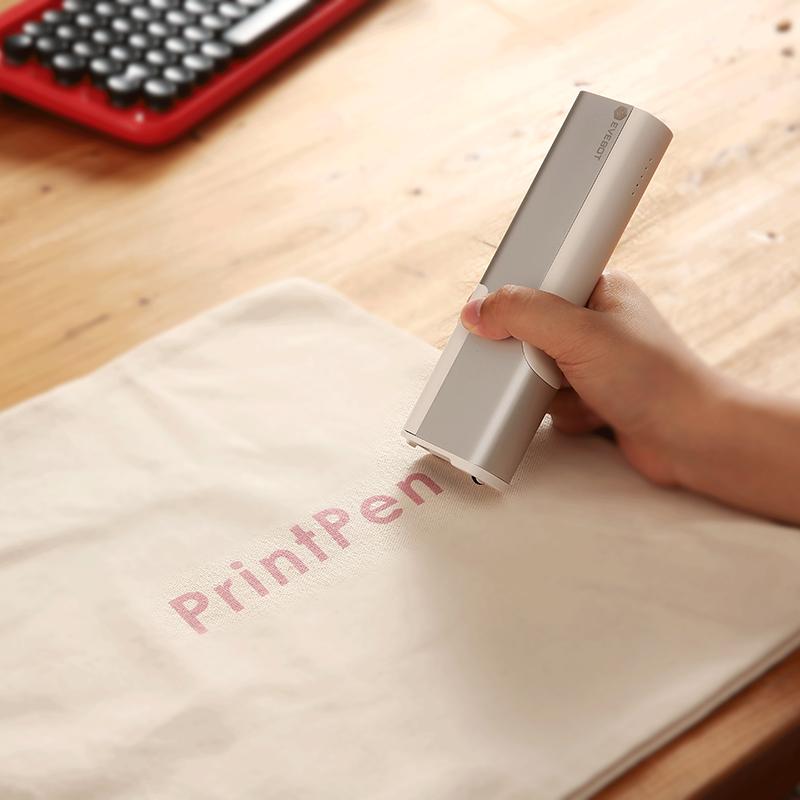 2020 New Arrivals EVEBOT PrintPen Portable Printer Pen Print With Ink Cartridge Handheld Inkjet Pen Printing Tattoo