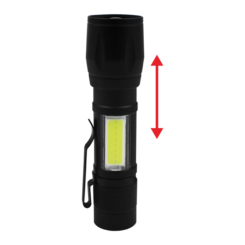 Isi Ulang Ultra Terang COB LED Adjustable Terbaik Torch Light