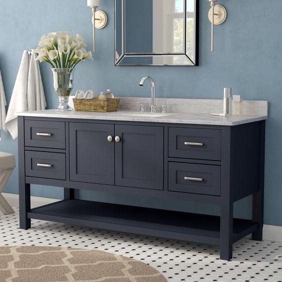 48 Inch Modern Gray Wood Freestanding