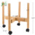 Wholesale Dark Display Rack Bamboo Plant Stand Adjustable With Pulley