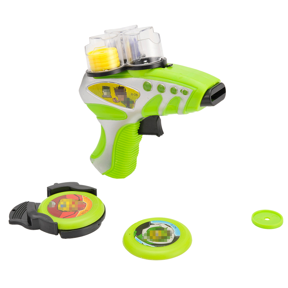 Huiye 2020 amazon hot selling plastic flying disc shooter promotional items toys for kids