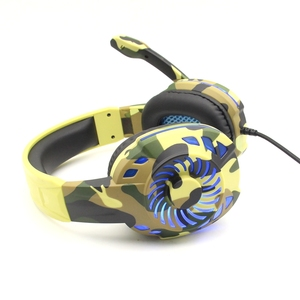 RGB Gaming Headset Camo Headphones With Microphone  Camouflage Colors For Computer