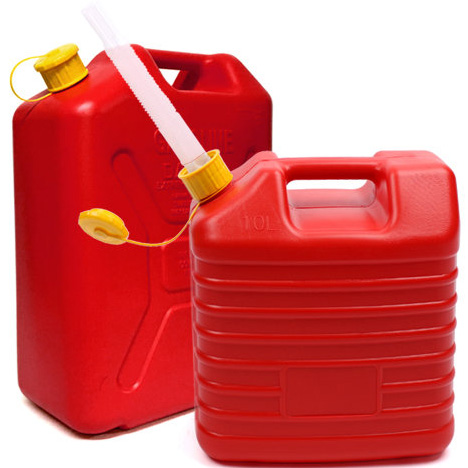 2 X Army Can 20 Litre Plastic Jerry Can With Spout Fuel Storage Water Container