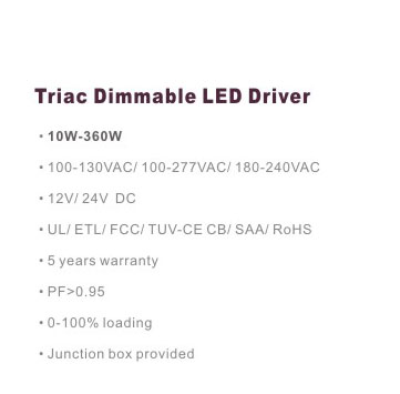 dimmable PWM power supply IP67 30W 2.5A 12v power supply led