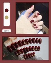 Новинка, Модные накладные ногти, милый стиль, для девочек, 3D, сделай сам, накладные ногти, длинные, для дизайна ногтей, поддельная наклейка False...(Китай)