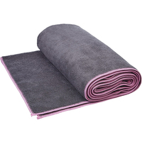 Custom logo microfibre non slip eco friendly yoga/camp towel