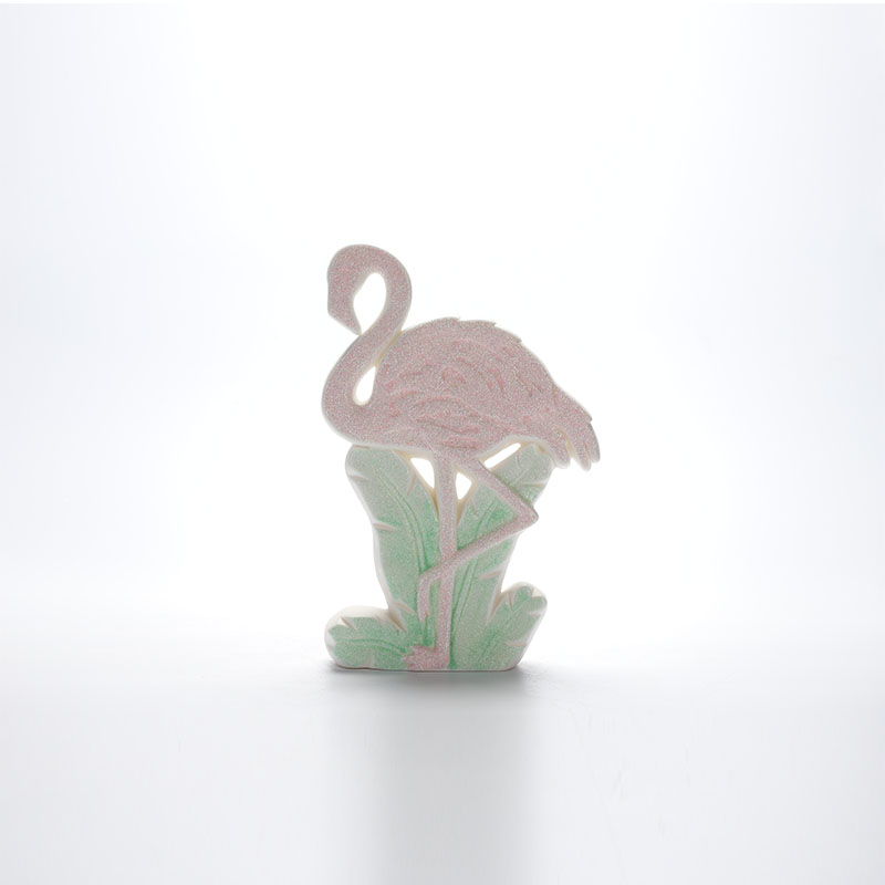 Porcelain Stand Flamingo Ornaments Ceramic Trinket Home