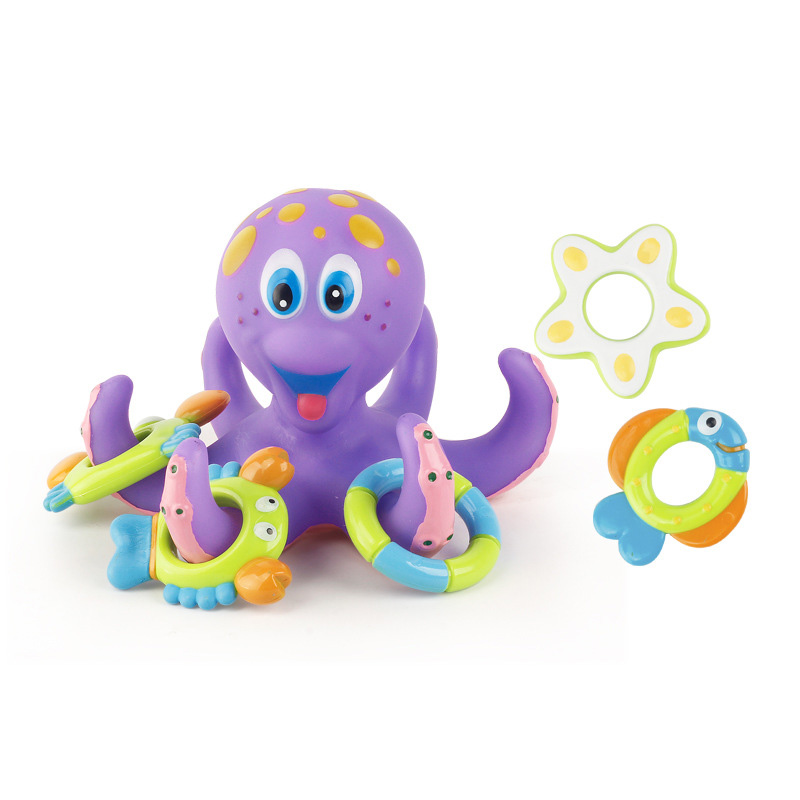 Funny octopus for kids to play into water bathing shower toys plastic funny bath toy octopus