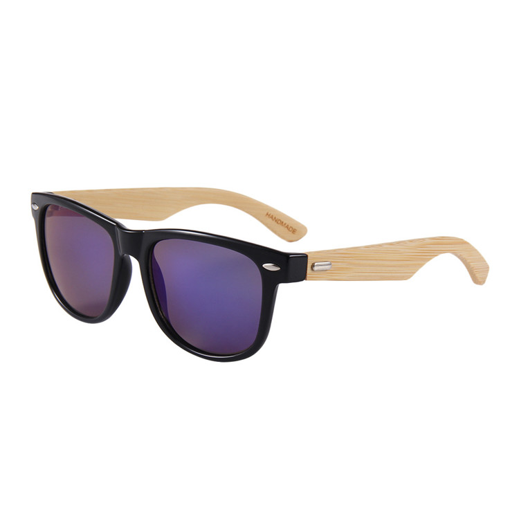 Qmoon handmade custom men sports bamboo wooden sun glasses man wooden sunglasses