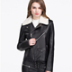 high quality flight leather jacket black custom real leather bomber jacket for women