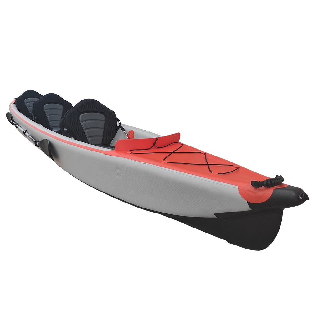 Wholesale 3 Person Sea Ocean Inflatable Fishing Kayaks Canoe Boats for Sale
