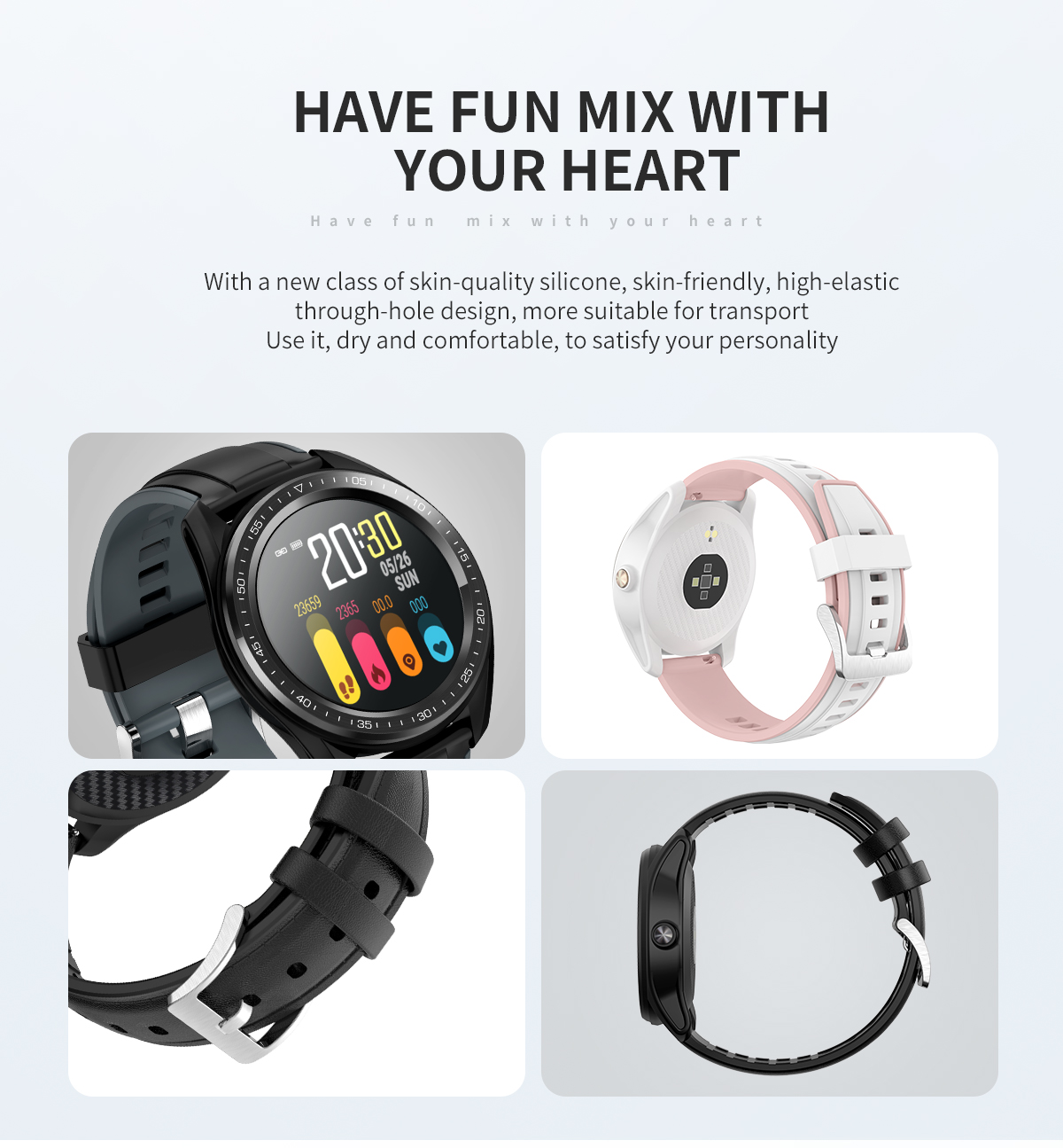 Diliberto 1.4 IPS Full Touch Fitness Smart Watch S18/M17 With Female Blood Pressure Smart Pedometer Smart Bracelet