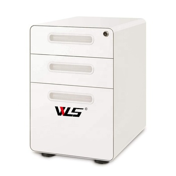 Office Furniture Suppliers Steel Rolling Vertical Filing Storage Cabinet, 3 Drawer Metal Mobile File Cabinet