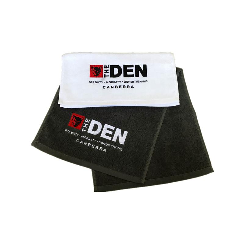 100% serviette DE SPORT en coton avec logo personnalisé brodé