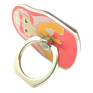 Pink Doll Metal Mobile Phone Ring 360 Degree Rotating, Fashion Figure Ring