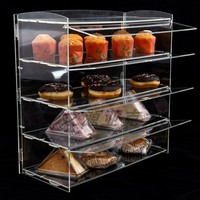 Acrylic cup cake display box bread display box food display rack multi-layer customizable easy install