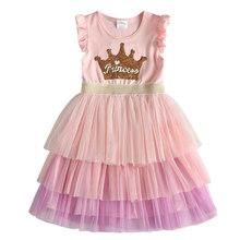 Детское летнее платье принцессы, костюм для девочек на день рождения, для школы, повседневные платья с единорогом(Китай)