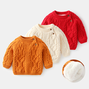 cable pattern thickening knit baby sweaters winter baby clothes kids pullovers