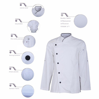 Made in Myanmar cheap price customized fire resistant kitchen white chef coat uniform