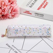 2020 Модный Блестящий чехол-карандаш с алмазной цветной ручкой-русалочкой, сумка для канцелярских принадлежностей для девочек, школьные офис...(Китай)