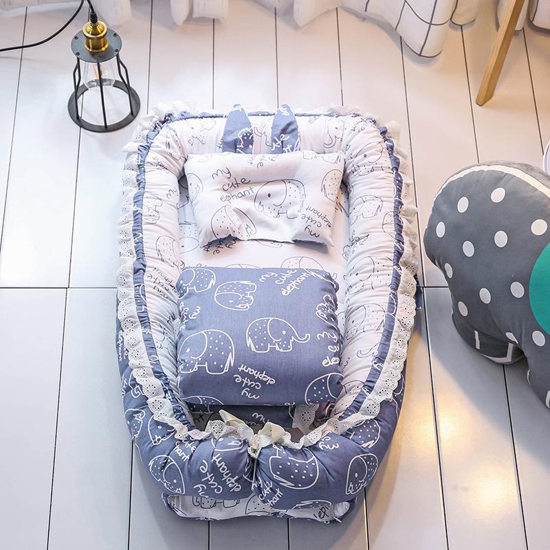 Abnehmbare abdeckung bionic bett faltbare baby nest mit quilt und kissen