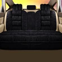Теплый плюшевый чехол для автомобильного сиденья, универсальная зимняя плюшевая подушка из искусственного меха для автомобильного сидень...(Китай)