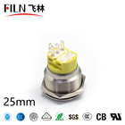 FILN 25mm Metal Push Button Switch momentary latching ring led ip67 waterproof led switch