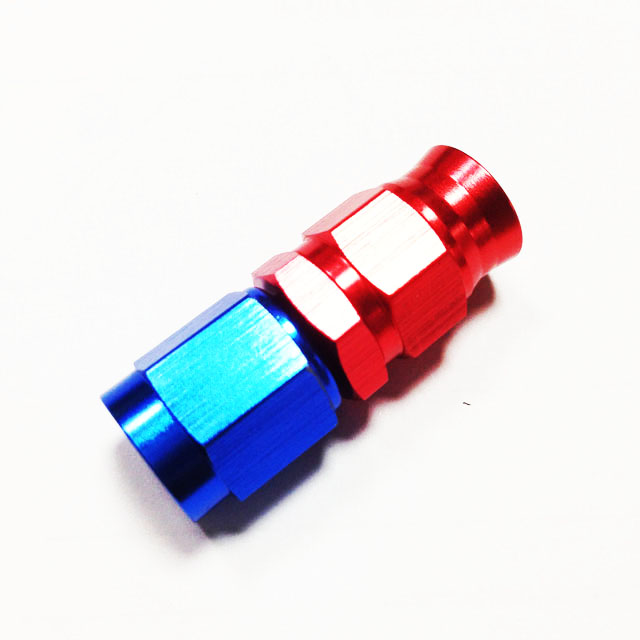VMT Red Blue AN3 straight PTFE forged <strong>Fitting</strong>
