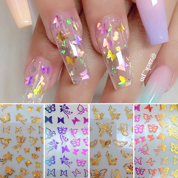 Butterfly 3D Nail Sticker Beautiful Decals Decoration Nail Art Accessories Design Sticker