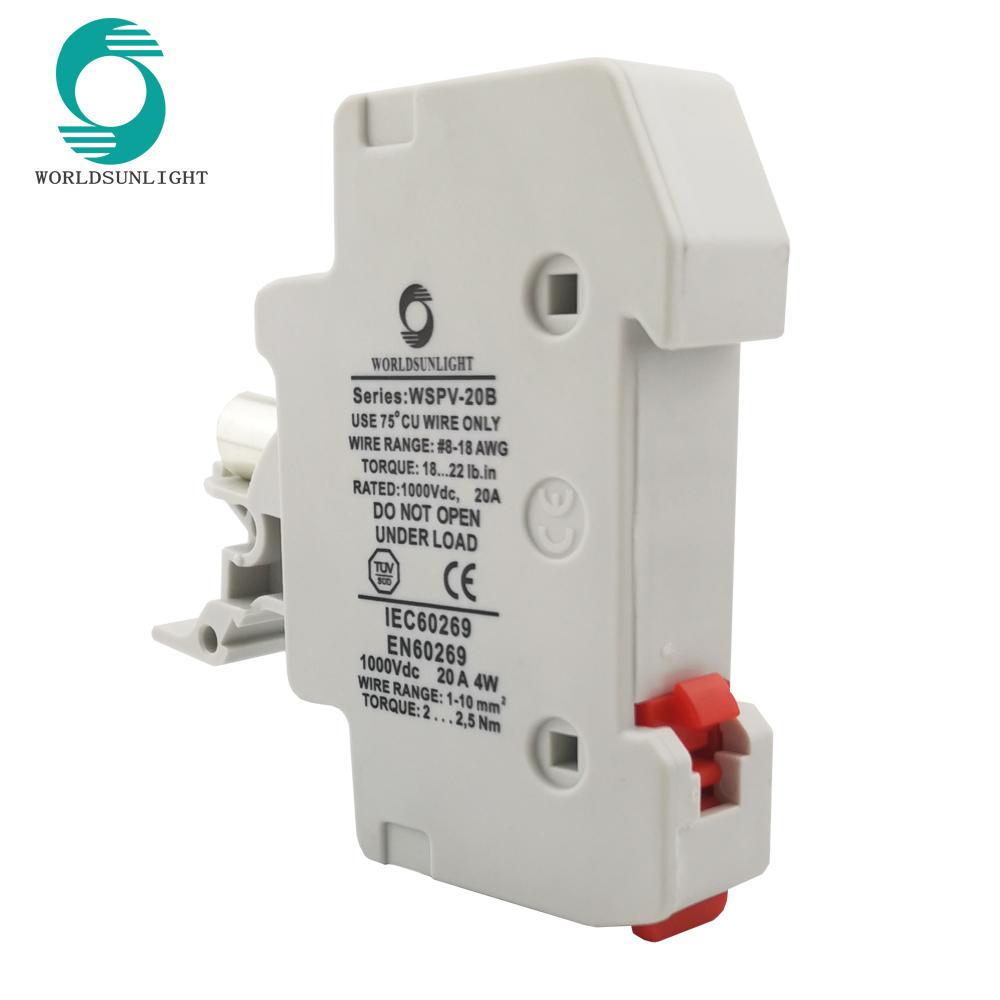 CE 10*38 мм dc 16A PV работающий на постоянном токе от солнечных батарей 1000V Предохранитель с держателем коробка