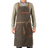 Custom Mens Waterproof Waxed Canvas Tool Barbecue Apron