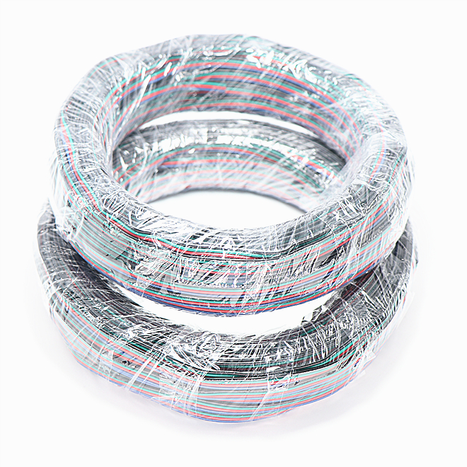 100m 16AWG 18AWG 20AWG 24AWG 2P 3P 4P RGB RGBW Flat <strong>Wires</strong> Electric Cable <strong>Wires</strong> For LED Strip