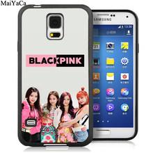 MaiYaCa черный розовый KPOP K-POP для девочек мягкие чехлы для телефонов samsung Galaxy S5 S6 S7 edge S8 S9 S10 Plus Lite Note 5 8 9 задняя крышка(Китай)