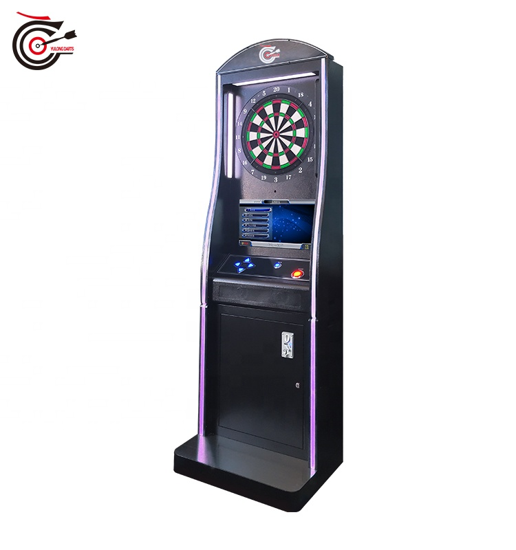 2020 manufacturer supplied minimalist-design international standard electronic darts machine with stereo and monitor