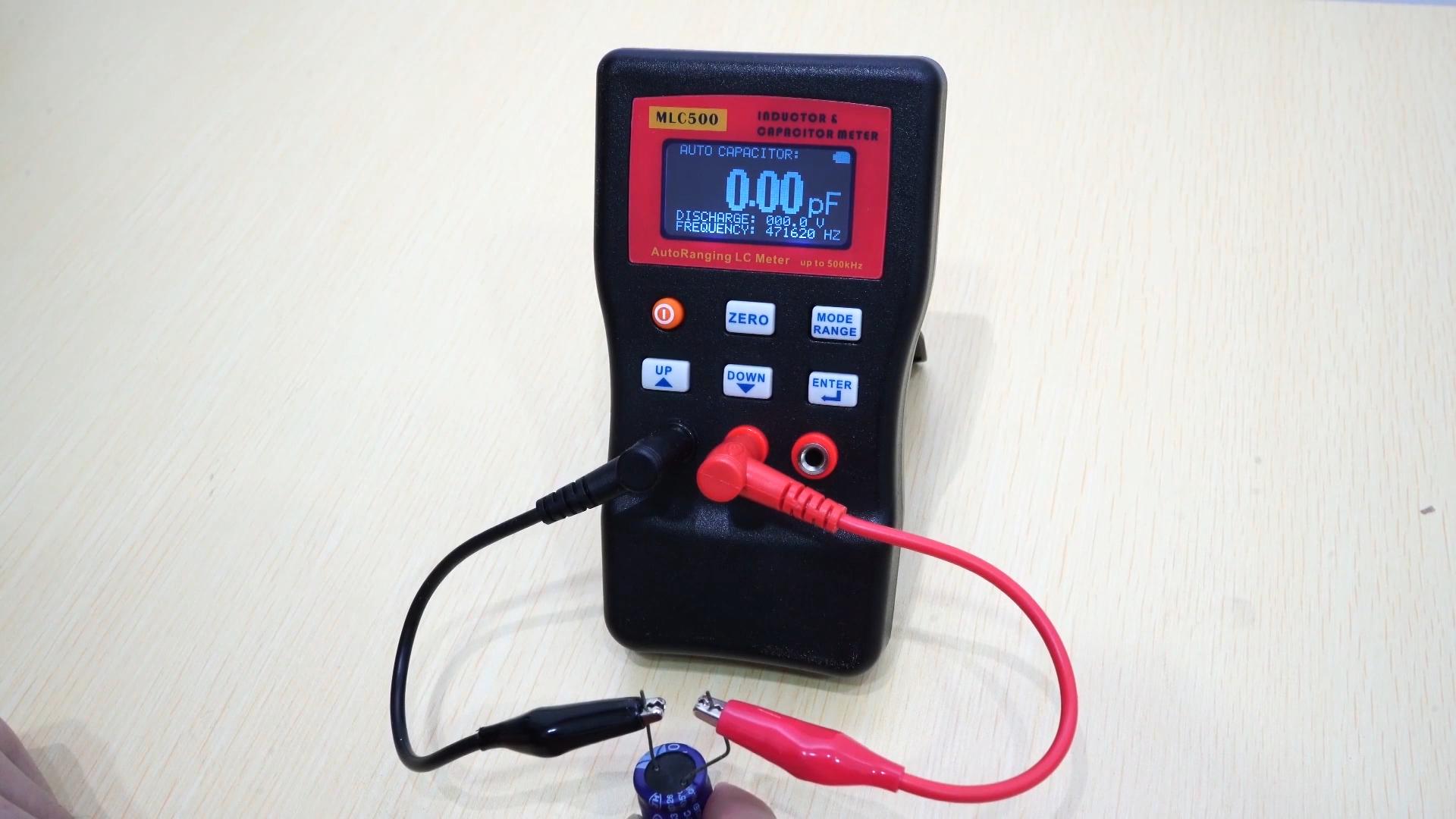 Yüksek hassasiyetli AutoRanging LC metre indüktör kapasitör metre % 1% doğruluk 500KHz test bağlantısı PC depolama MLC500