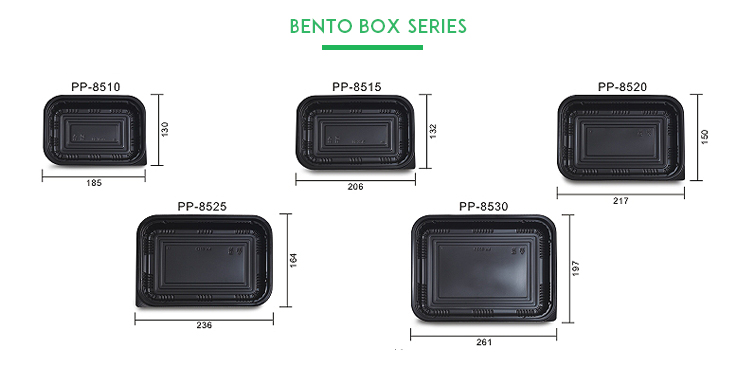 Black food packaging service disposable food container for sealing