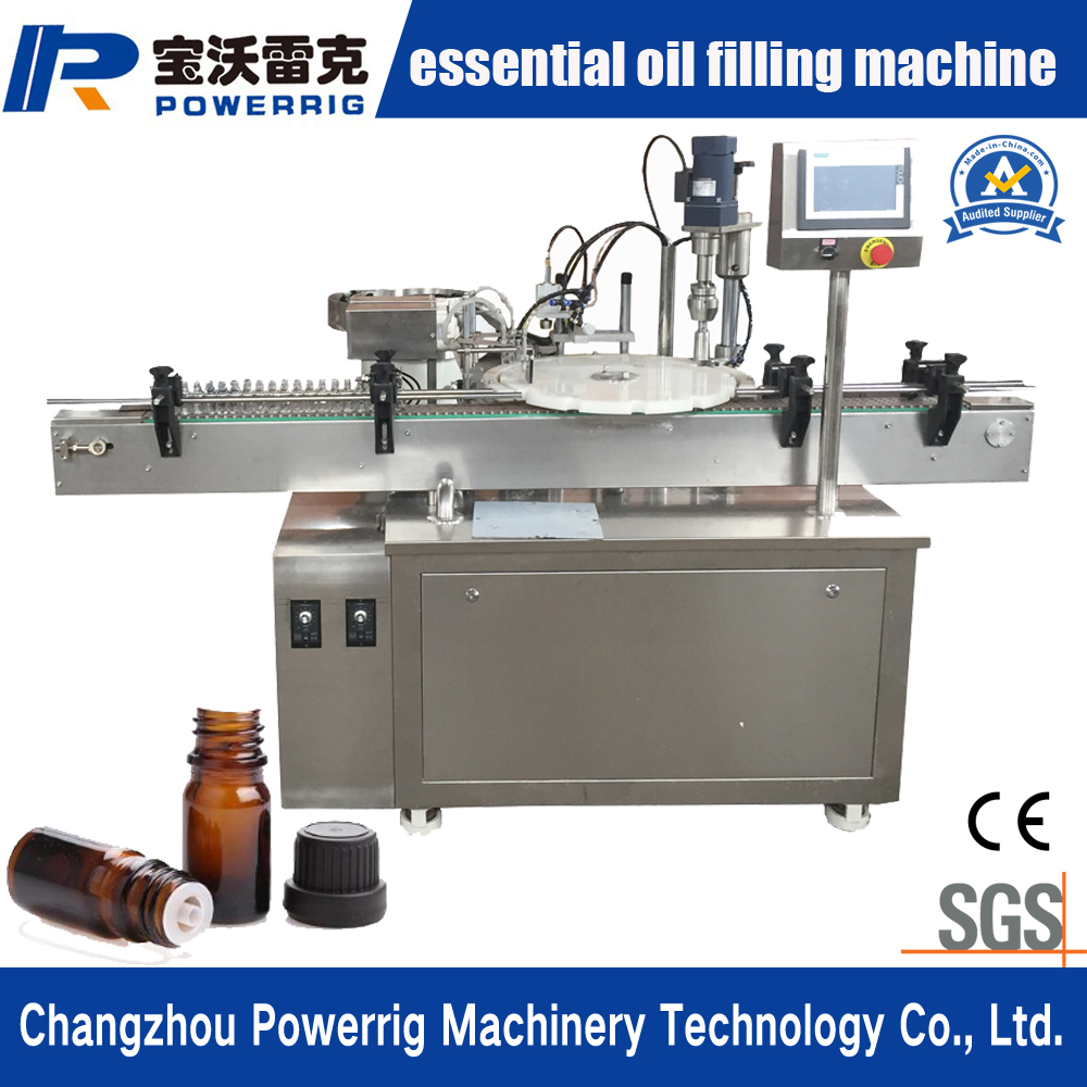 Hot sale automatic peristaltic pump liquid filling machine essential oil drop bottle filling plugging capping machine